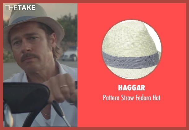 Haggar beige hat from By the Sea seen with Brad Pitt (Roland)