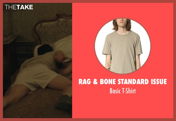 Rag & Bone Standard Issue beige t-shirt from By the Sea seen with Brad Pitt (Roland)