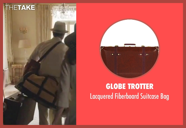 Globe Trotter brown bag from By the Sea seen with Brad Pitt (Roland)