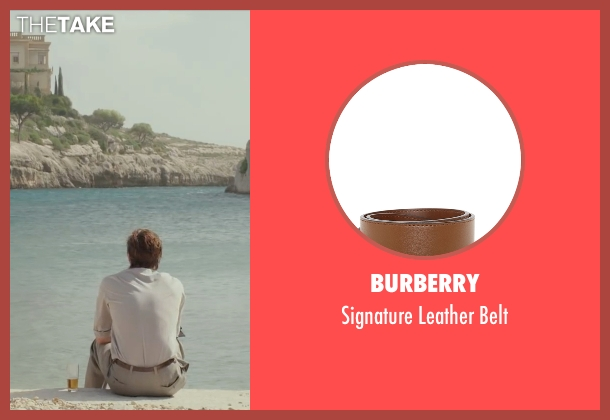 Burberry brown belt from By the Sea seen with Brad Pitt (Roland)