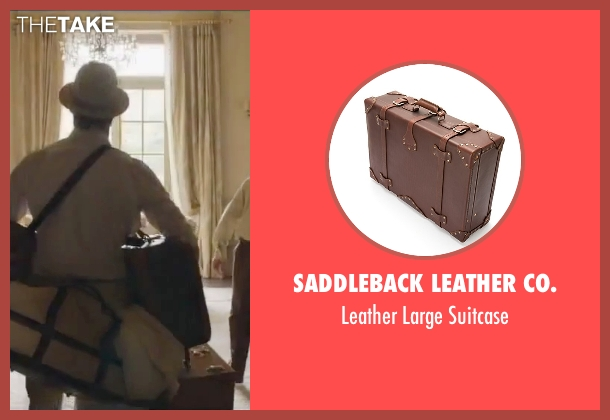 Saddleback Leather Co. brown suitcase from By the Sea seen with Brad Pitt (Roland)