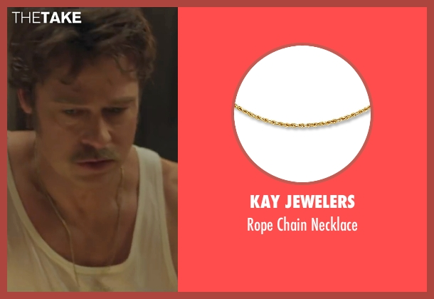 Kay Jewelers gold necklace from By the Sea seen with Brad Pitt (Roland)