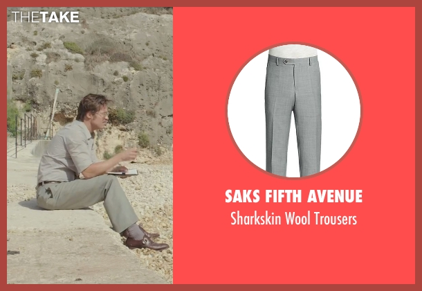 Saks Fifth Avenue gray trousers from By the Sea seen with Brad Pitt (Roland)