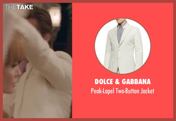 Dolce & Gabbana white jacket from By the Sea seen with Brad Pitt (Roland)