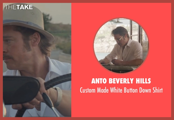 Anto Beverly Hills white shirt from By the Sea seen with Brad Pitt (Roland)