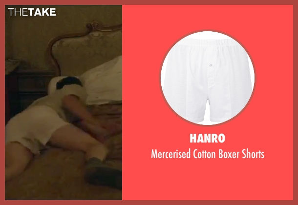 Hanro white shorts from By the Sea seen with Brad Pitt (Roland)