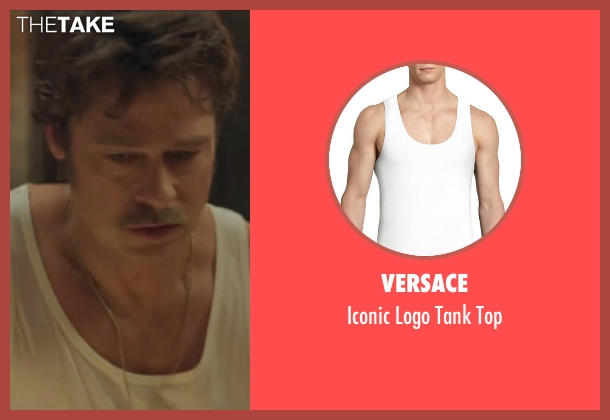 Versace white top from By the Sea seen with Brad Pitt (Roland)
