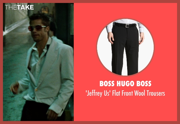 Boss Hugo Boss black trousers from Fight Club seen with Brad Pitt (Tyler Durden)
