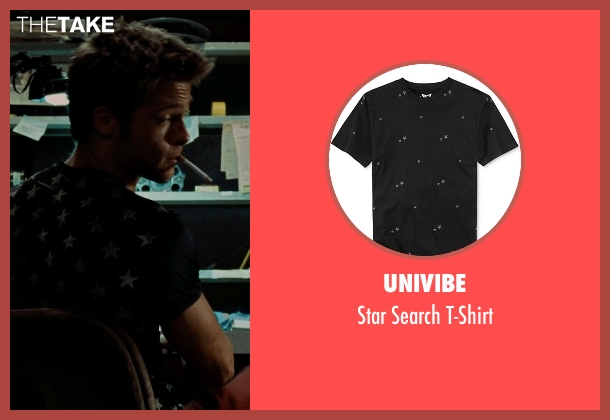 Univibe black t-shirt from Fight Club seen with Brad Pitt (Tyler Durden)