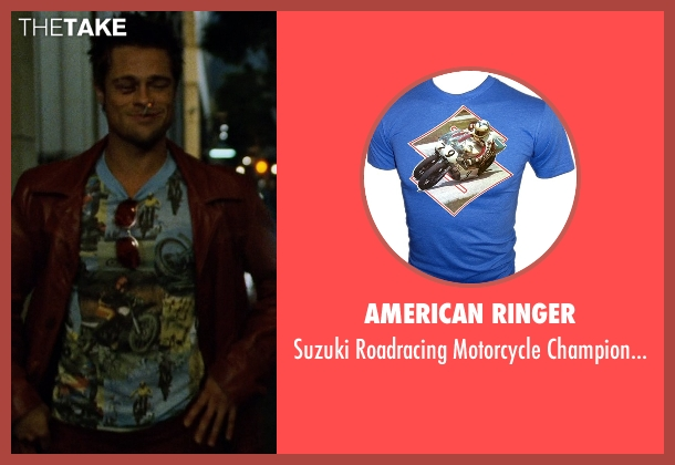 American Ringer blue t-shirt from Fight Club seen with Brad Pitt (Tyler Durden)