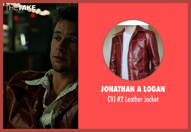 Jonathan A Logan brown jacket from Fight Club seen with Brad Pitt (Tyler Durden)