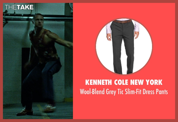 Kenneth Cole New York gray pants from Fight Club seen with Brad Pitt (Tyler Durden)