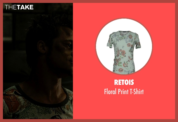 Retois green t-shirt from Fight Club seen with Brad Pitt (Tyler Durden)