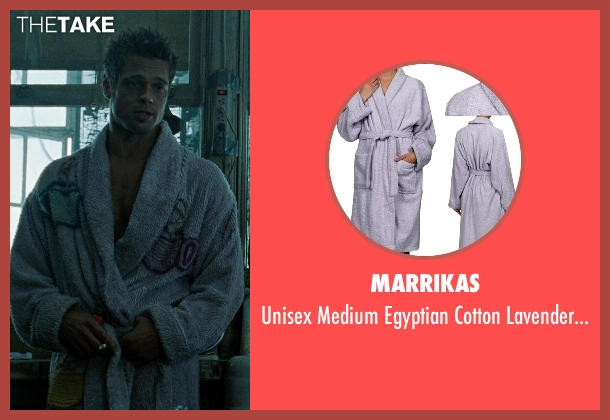 Marrikas purple robe from Fight Club seen with Brad Pitt (Tyler Durden)
