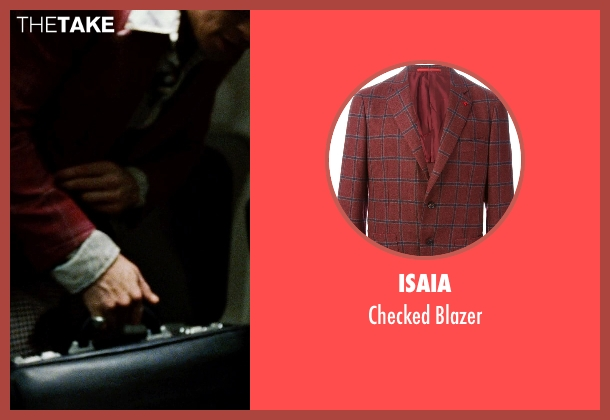 Isaia red blazer from Fight Club seen with Brad Pitt (Tyler Durden)