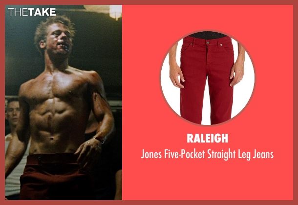 Raleigh red jeans from Fight Club seen with Brad Pitt (Tyler Durden)