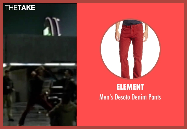 Element red pants from Fight Club seen with Brad Pitt (Tyler Durden)
