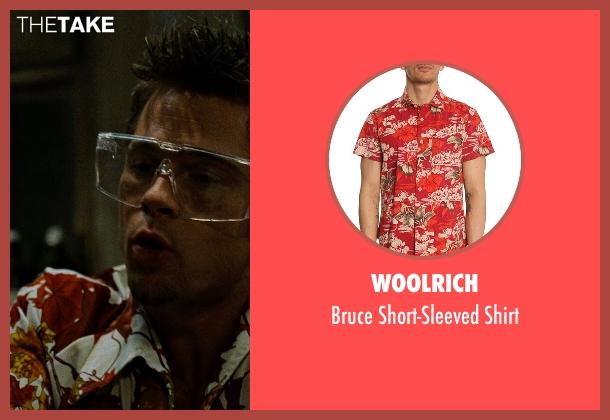 Woolrich red shirt from Fight Club seen with Brad Pitt (Tyler Durden)