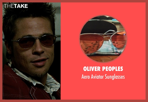 Oliver Peoples red sunglasses from Fight Club seen with Brad Pitt (Tyler Durden)