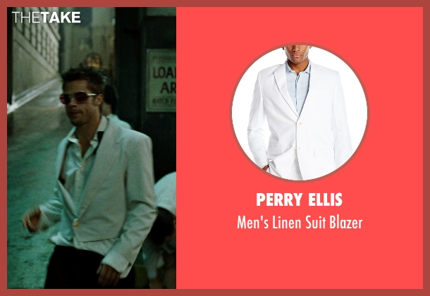 Perry Ellis white blazer from Fight Club seen with Brad Pitt (Tyler Durden)