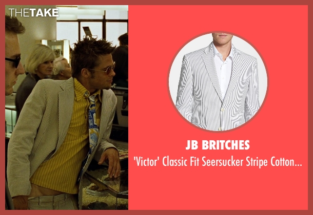 JB Britches white coat from Fight Club seen with Brad Pitt (Tyler Durden)