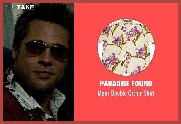 Paradise Found white shirt from Fight Club seen with Brad Pitt (Tyler Durden)