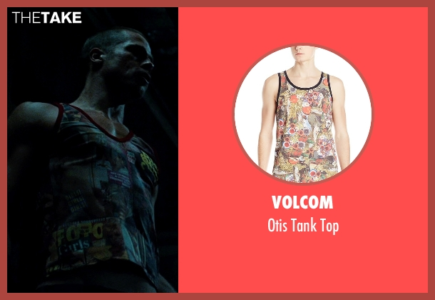 Volcom white top from Fight Club seen with Brad Pitt (Tyler Durden)