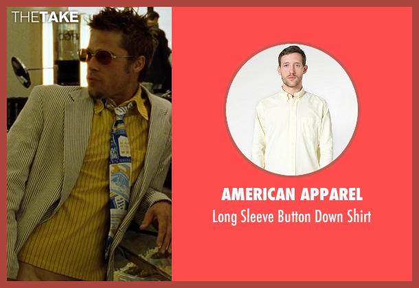 American Apparel yellow shirt from Fight Club seen with Brad Pitt (Tyler Durden)