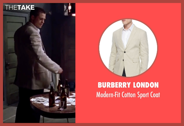 Burberry London beige coat from Mr. & Mrs. Smith seen with Brad Pitt (John Smith)
