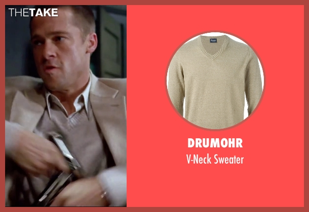 Drumohr beige sweater from Mr. & Mrs. Smith seen with Brad Pitt (John Smith)