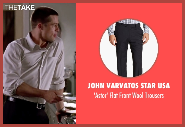 John Varvatos Star USA black trousers from Mr. & Mrs. Smith seen with Brad Pitt (John Smith)