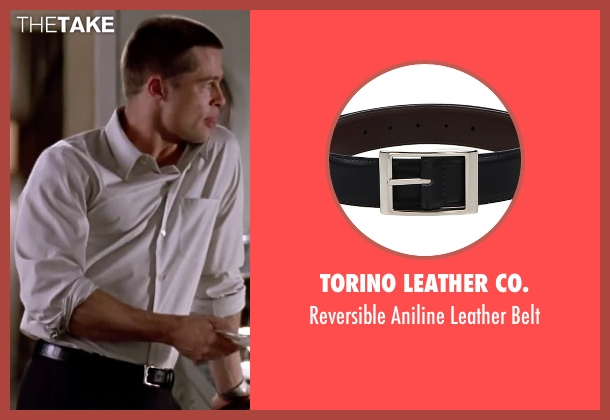 Torino Leather Co. black belt from Mr. & Mrs. Smith seen with Brad Pitt (John Smith)