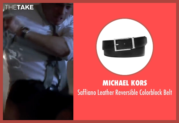 Michael Kors black belt from Mr. & Mrs. Smith seen with Brad Pitt (John Smith)