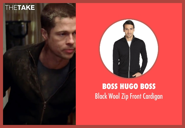 Boss Hugo Boss black cardigan from Mr. & Mrs. Smith seen with Brad Pitt (John Smith)