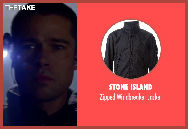 Stone Island black jacket from Mr. & Mrs. Smith seen with Brad Pitt (John Smith)
