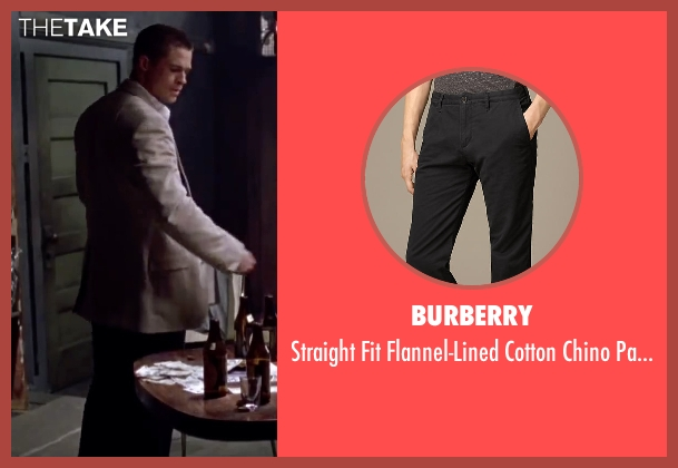 Burberry black pants from Mr. & Mrs. Smith seen with Brad Pitt (John Smith)
