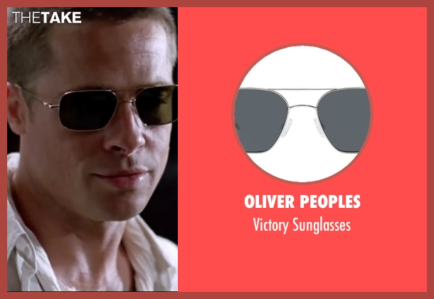 Oliver Peoples black sunglasses from Mr. & Mrs. Smith seen with Brad Pitt (John Smith)