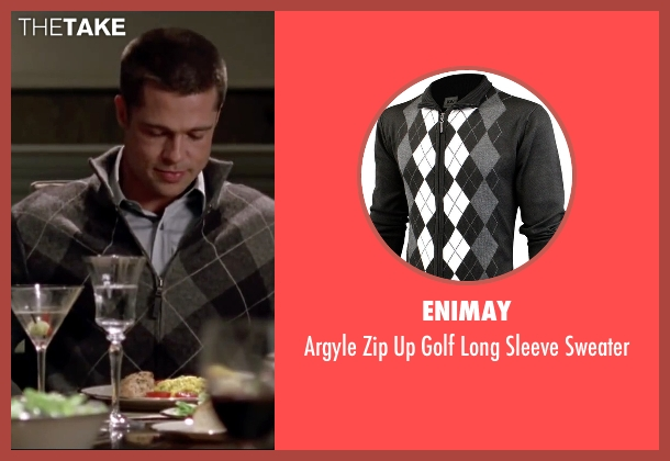 Enimay black sweater from Mr. & Mrs. Smith seen with Brad Pitt (John Smith)