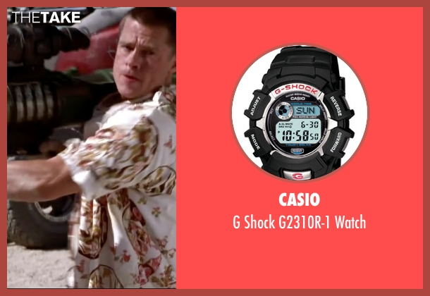 Casio black watch from Mr. & Mrs. Smith seen with Brad Pitt (John Smith)