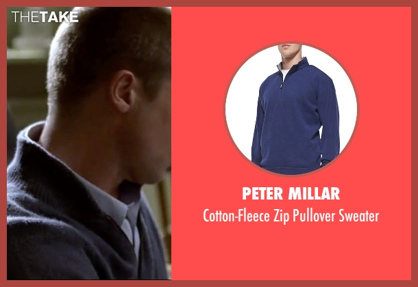 Peter Millar blue sweater from Mr. & Mrs. Smith seen with Brad Pitt (John Smith)