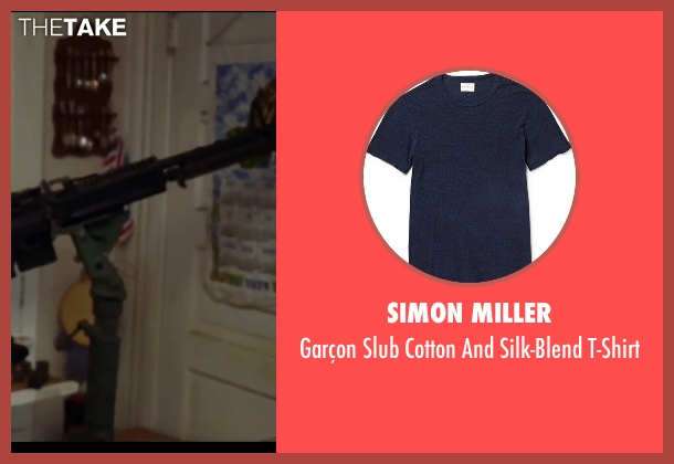 Simon Miller blue t-shirt from Mr. & Mrs. Smith seen with Brad Pitt (John Smith)