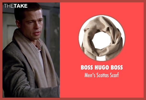 Boss Hugo Boss brown scarf from Mr. & Mrs. Smith seen with Brad Pitt (John Smith)