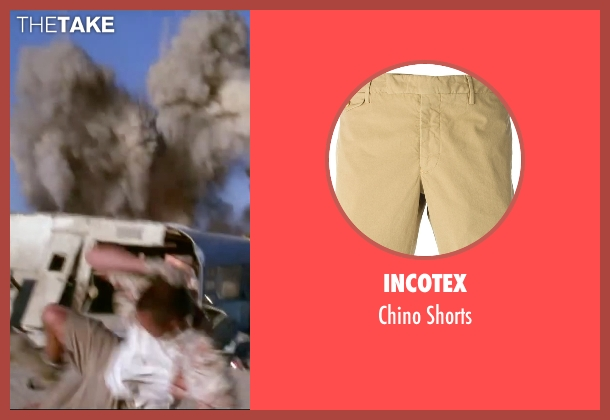 Incotex brown shorts from Mr. & Mrs. Smith seen with Brad Pitt (John Smith)