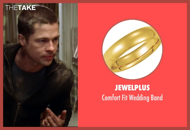 Jewelplus gold band from Mr. & Mrs. Smith seen with Brad Pitt (John Smith)