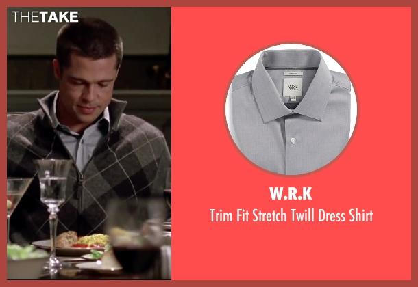 W.R.K gray shirt from Mr. & Mrs. Smith seen with Brad Pitt (John Smith)