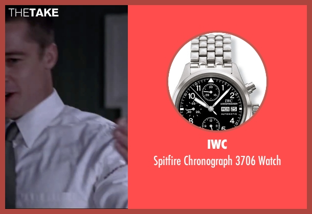 IWC silver watch from Mr. & Mrs. Smith seen with Brad Pitt (John Smith)