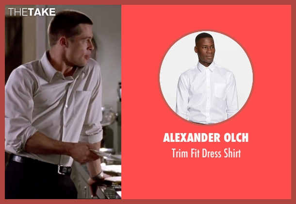 Alexander Olch white shirt from Mr. & Mrs. Smith seen with Brad Pitt (John Smith)