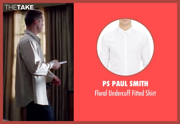 PS Paul Smith white shirt from Mr. & Mrs. Smith seen with Brad Pitt (John Smith)