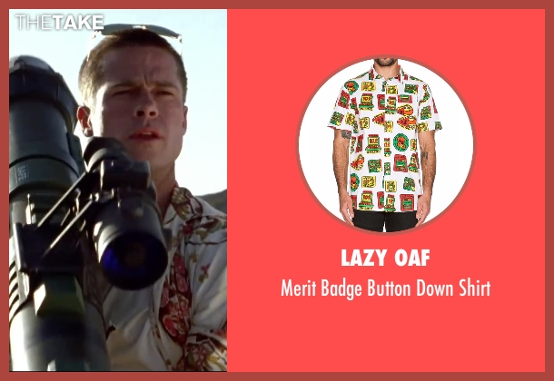 Lazy Oaf white shirt from Mr. & Mrs. Smith seen with Brad Pitt (John Smith)