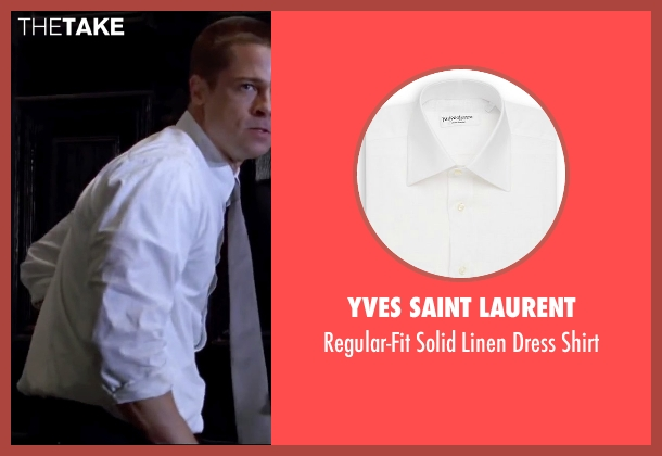 Yves Saint Laurent white shirt from Mr. & Mrs. Smith seen with Brad Pitt (John Smith)